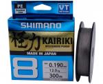 Шнур Shimano Kairiki 8 PE (Steel Gray) 300m 0.28mm 29.3kg (22669724)