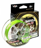 Шнур YGK G-Soul X8 Upgrade 200m (салат.) #2.0/40lb (55450137)