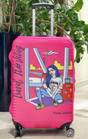 Чехол для чемодана Travel stories (L) розовый (pink_L)