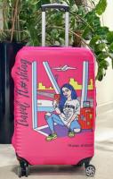 Чехол для чемодана Travel stories (М) розовый (pink_М)