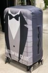 Чехол для чемодана Travel stories (М) серый (grey_М)