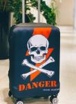 Чехол для чемодана Travel stories (L) черный (black_L)