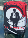Чехол для чемодана Travel stories (М) красный (red_М)