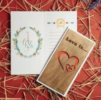 Уникальная открытка Primax-art 'Love is...'  (200114)