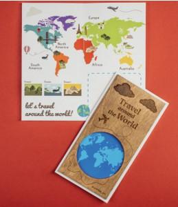 Уникальная открытка Primax-art 'Travel around the World '  (200115)