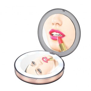 Подарок Карманное зеркало для макияжа с LED подсветкой G-SIO CM2