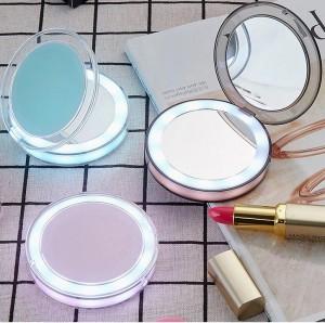 фото Карманное зеркало для макияжа с LED подсветкой G-SIO CM2 #6