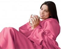 Подарок Плед с рукавами Розовый 140x180 см Laus P1 (P1pink)