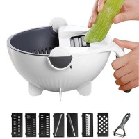 Подарок Универсальная овощерезка Masslinna Vegetable cutter VC2: с дуршлагом, терка, шинковка, измельчитель