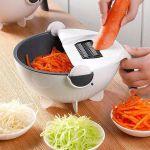 фото Универсальная овощерезка Masslinna Vegetable cutter VC2: с дуршлагом, терка, шинковка, измельчитель #6