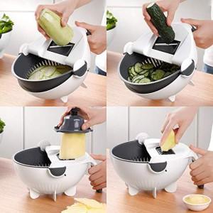фото Универсальная овощерезка Masslinna Vegetable cutter VC2: с дуршлагом, терка, шинковка, измельчитель #3