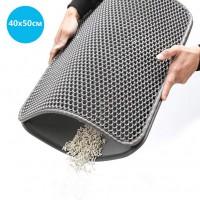 Подарок Водонепроницаемый коврик для кошачьего туалета 40х50см LAUS CLM01 Gray