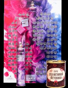 Подарок Подарок ко Дню святого Валентина: Скретч-постер игра 'My Poster Sex edition' + Консерва-свеча 'Для интимной обстановки' (суперкомплект)