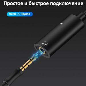 фото Адаптер-переходник Type-C для зарядки телефона и подключения наушников Mini Jack 3.5мм Masslinna LA002 Black #5