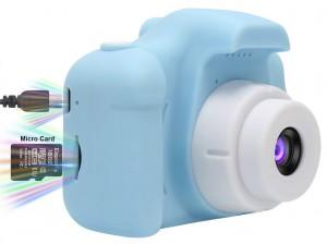 Подарок Детский цифровой фотоаппарат G-SIO Model X Blue