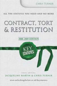 Книга Key Statutes: Contract, Tort and Restitution