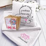 Подарок Подарок ко Дню святого Валентина: подушка с пледом 'Люблю тебя' +  Печенье с предсказанием 'Спасибо за то, что ты есть у меня' (суперкомплект)