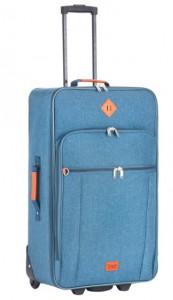 Чемодан TravelZ Hipster (M) Jeans Blue (927283)