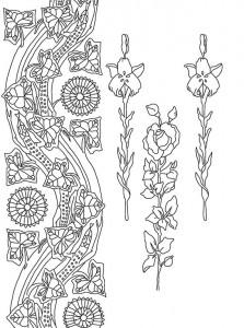 фото страниц Рисунки и узоры в стиле ар-нуво. Раскрашивай и отдыхай #4