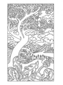 фото страниц Рисунки и узоры в стиле ар-нуво. Раскрашивай и отдыхай #6