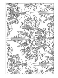 фото страниц Рисунки и узоры в стиле ар-нуво. Раскрашивай и отдыхай #7