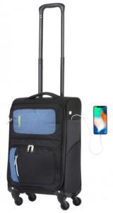 Чемодан TravelZ Triple Pocket (S) Black (927260)