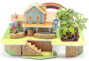 3D Конструктор Zilipoo 'Rainbow House' с живим растением (UFT3DHP1)