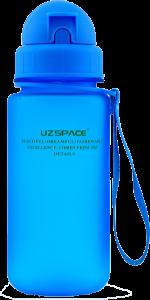 Бутылка для воды спортивная Uzspace (400ml) синяя (3024BL)