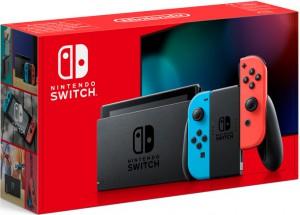 Приставка Игровая приставка Nintendo Switch Ver.2 (неоновый красный / неоновый синий)