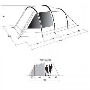 фото Палатка Outwell Dash 4 Blue (111047) #2