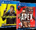 игра Cyberpunk 2077 PS4, русская версия + Apex Legends: Bloodhound Edition в подарок (суперкомплект из 2 игр для PS4)