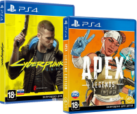 игра Cyberpunk 2077 PS4, русская версия + Apex Legends: Lifeline Edition в подарок (суперкомплект из 2 игр для PS4)