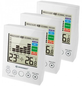 Термометр-гигрометр Bresser MA With Mould Alert White (3 шт) (927559)