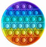 Подарок Мягкая игрушка-антистресс, бесконечная пупырка Pop It Радужный круг