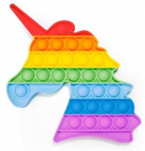 фото Мягкая игрушка-антистресс, бесконечная пупырка Pop It 'Радужный Единорог', 'Звездный единорог' #2