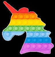 Подарок Мягкая игрушка-антистресс, бесконечная пупырка Pop It 'Радужный Единорог', 'Звездный единорог'