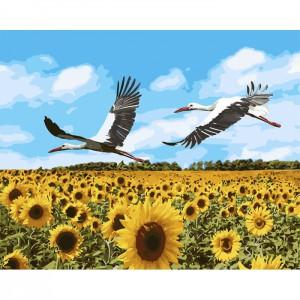 Картина по номерам 'Аисты в небе', 40х50 см (КНО4182)
