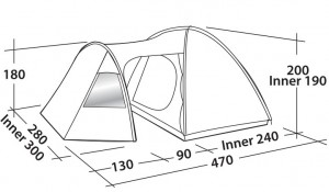 фото Палатка Easy Camp Eclipse 500 Rustic Green (120387) #3