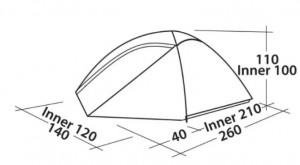 фото Палатка Easy Camp Meteor 300 Rustic Green (120393) #2