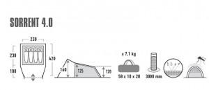 фото Палатка High Peak Sorrent 4.0 Nimbus Grey (10256) #3
