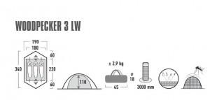 фото Палатка High Peak Woodpecker 3 LW Pesto/Red (10195) #4