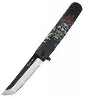 Нож складной Ganzo черный самурай (G626-BS)