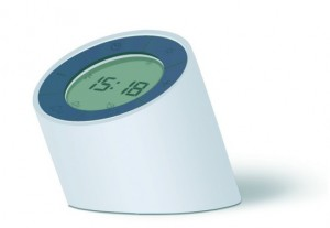 Подарок Будильник-лампа Gingko 'The Edge Light', с регулировкой яркости, белый (G001WT)