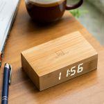 Подарок Смарт-будильник Gingko 'Flip', дерево бамбук (G003B11)