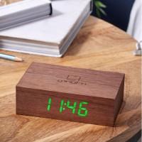Подарок Смарт-будильник Gingko 'Flip', дерево орех (G003W8)