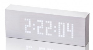 Подарок Смарт-будильник с термометром Gingko 'Click Clock', белый (GK03W13)