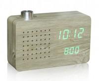 Подарок Смарт-будильник + FM-радио Gingko 'Ash Radio', дерево (GK16G12)