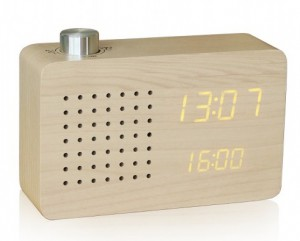 Подарок Смарт-будильник + FM-радио Gingko 'Ash Radio', дерево клен (GK16Y18)
