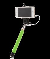 Подарок Монопод для селфи, селфи стик со шнуром UFT SS1 light green