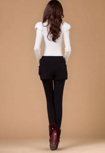 фото Леггинсы утепленные с шортами (Черные) #2